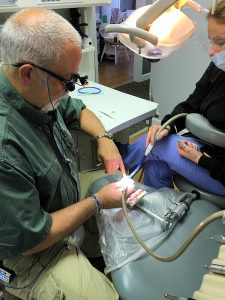 Thomas M. Clark, DDS practicing his new skills